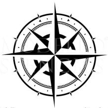 Schwarz-Weiß Kompass