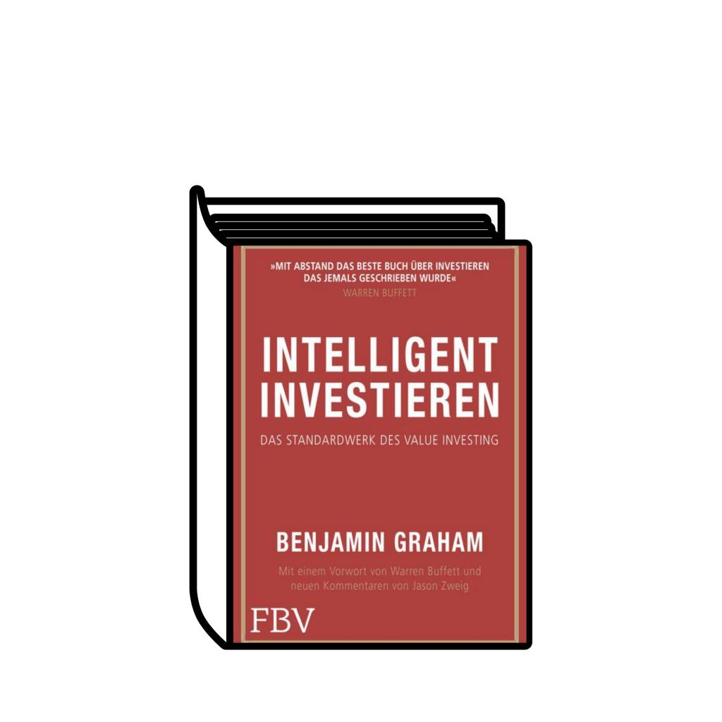 """Ein Buch mit dem Cover von """"Intelligent Investieren"""" von Benjamin Graham"""