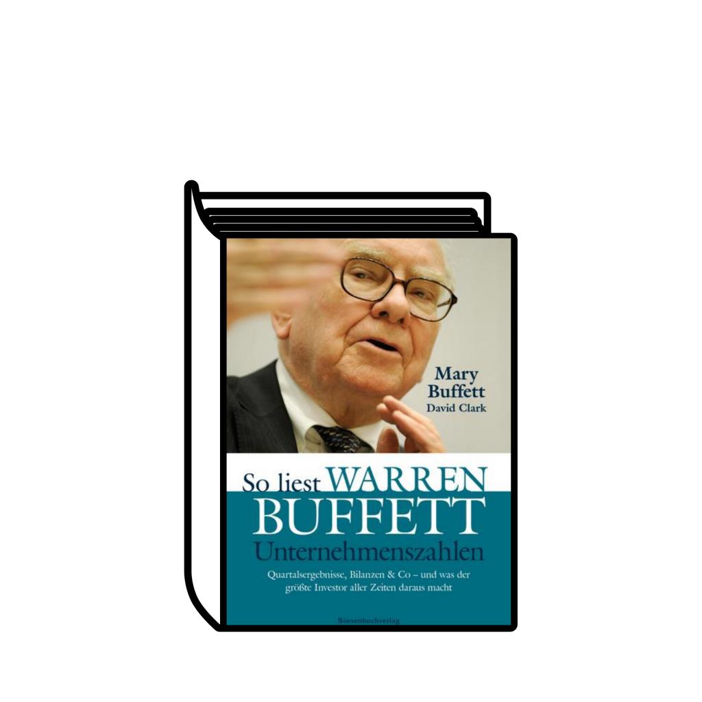 """Ein Buch mit dem Cover von """"So liest Warren Buffet Unternehmenszahlen"""""""