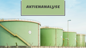 """Öllager mit der Überschrift """"Aktienanalyse"""""""