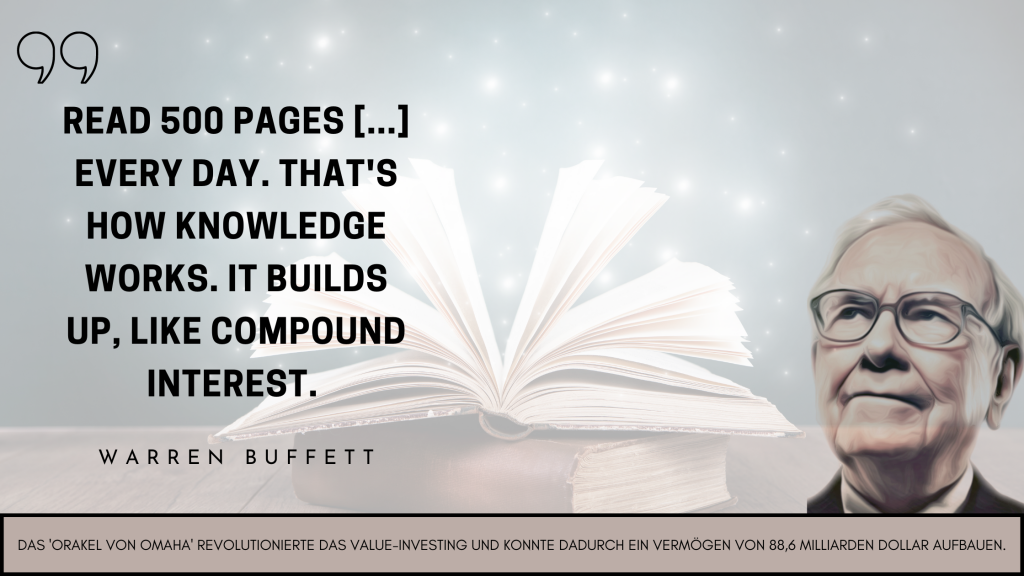 """""""Read 500 Pages [...] every day. That's how knowledge works. It builds up, like compound interest."""""""
